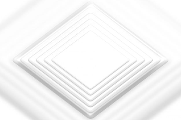 Rendu 3d. plusieurs couches de plaque de papier quadrillé blanc vide ou fond de scène.