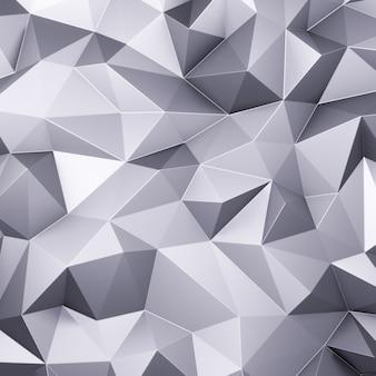 Rendu 3d polygones triangle gris abstrait mosaïque