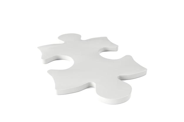 Rendu 3d d'un puzzle sur fond blanc