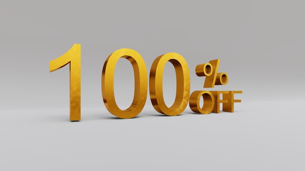 Rendu 3d de remise de 100 pour cent