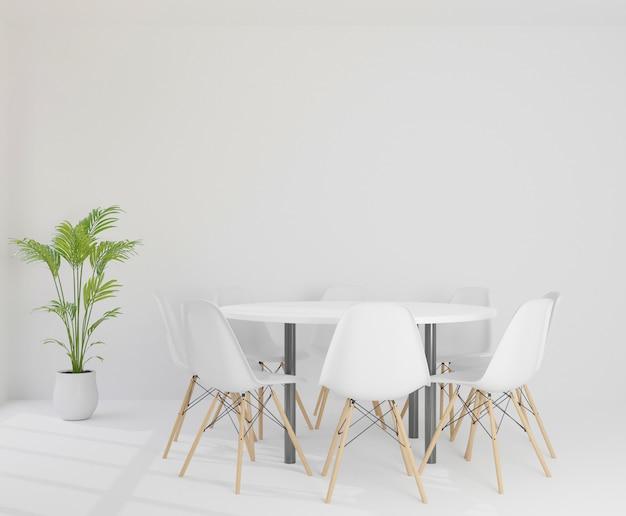 Rendu 3d salle de réunion avec des chaises