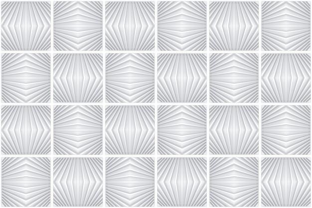 Rendu 3d. sans couture gris moderne grille carrée art modèle carreaux de céramique design texture fond de mur.