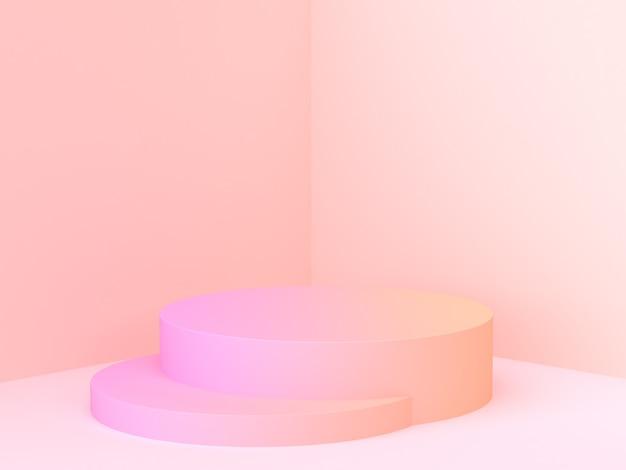 Rendu 3d scène de coin abstrait mur graduel gradient podium