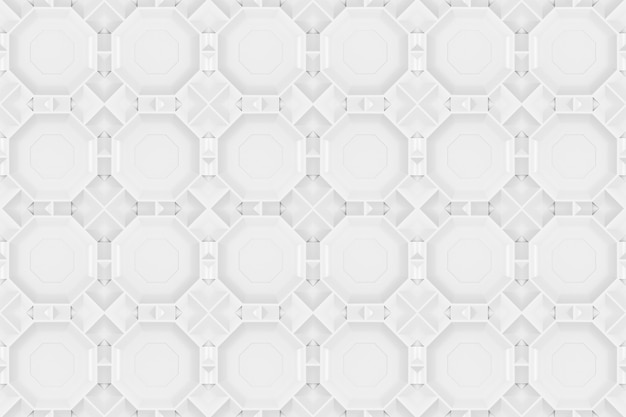 Rendu 3d. seamless moderne gris forme hexagonale modèle tuile design mur de texture de fond.