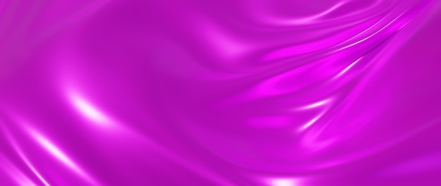 Rendu 3d de soie rose. fond de mode art abstrait.
