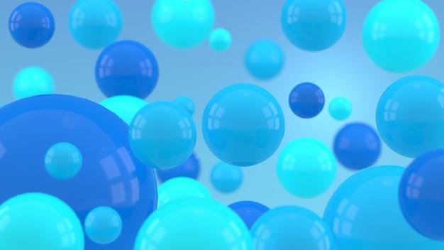 Rendu 3d de sphères multicolores