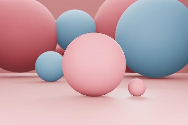 Rendu 3d sphérique abstrait
