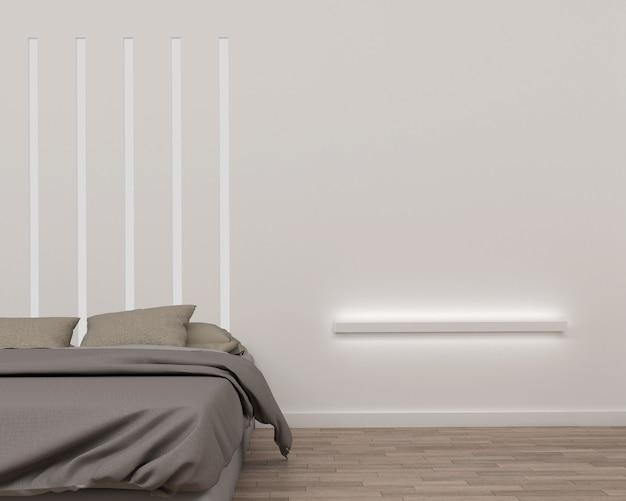Rendu 3d de style moderne chambre et espace blanc