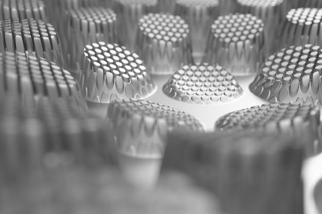 Rendu 3d de la surface de déplacement réfléchissante abstraite