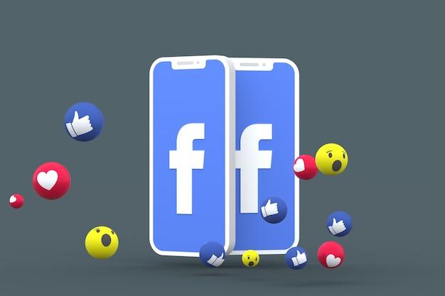 Rendu 3d de symbole facebook