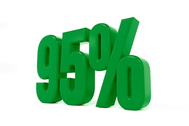 Rendu 3d d'un symbole de quatre-vingt-quinze pour cent