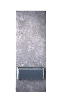 Rendu 3d d'un symbole de tiret en impression dactylographiée métallique