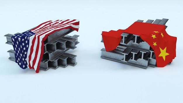 Rendu 3d des tarifs d'importation us steel