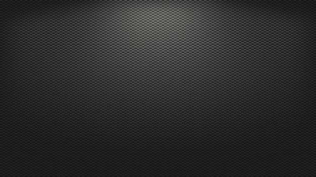 Rendu 3d texture d'arrière-plan carbone éclairage sombre toile de fond
