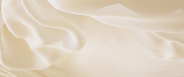 Rendu 3d de tissu blanc