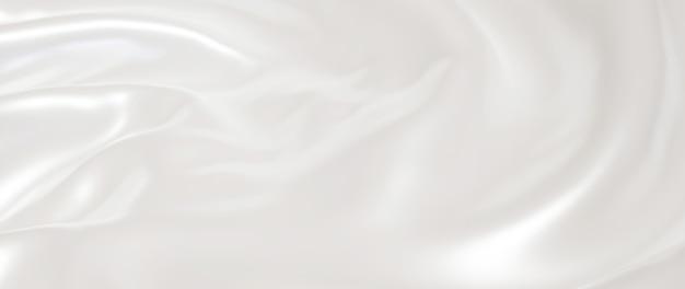 Rendu 3d de tissu léger et blanc. feuille holographique irisée. fond de mode art abstrait.