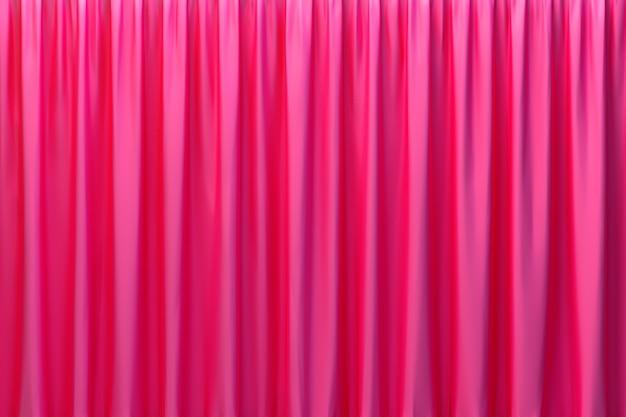 Rendu 3d, tissu de luxe abstrait rouge ou vague liquide ou plis ondulés de matériau de velours satin texture grunge en soie ou fond de luxe