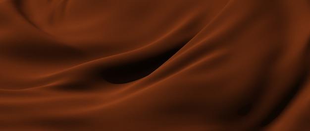 Rendu 3d de tissu marron. feuille holographique irisée. fond de mode art abstrait.