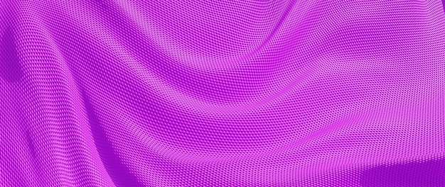 Rendu 3d de tissu rose. feuille holographique irisée. fond de mode art abstrait.