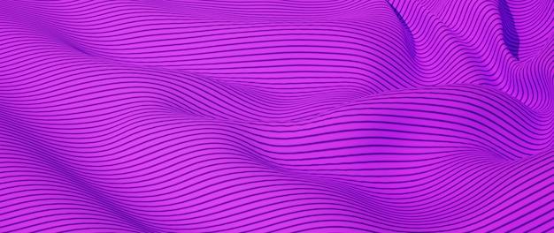 Rendu 3d de tissu rose et violet