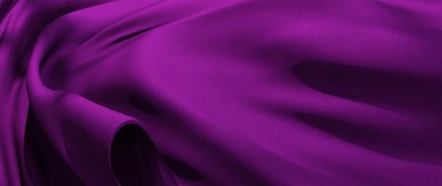 Rendu 3d de tissu violet. fond de mode art abstrait.