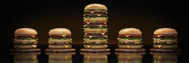 Rendu 3d de la tour hamburger