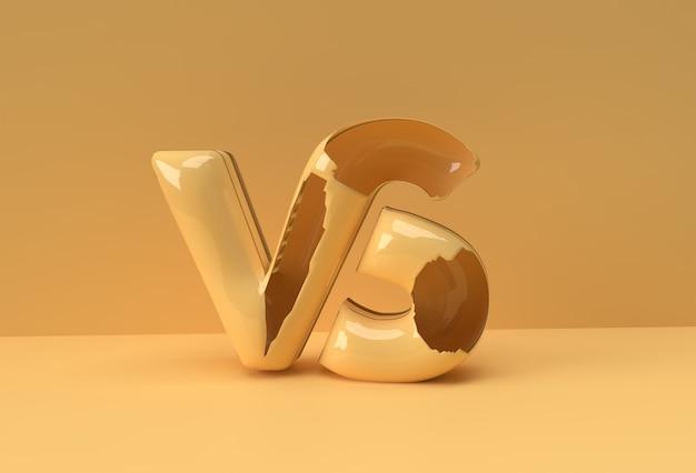 Rendu 3d vs société lettre logo illustration conception.