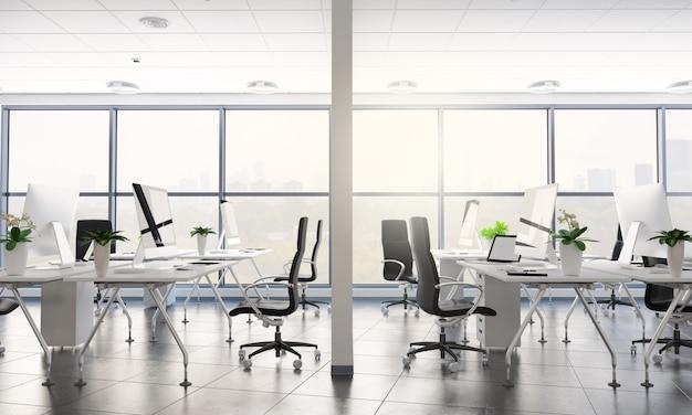 Rendu de bureau moderne
