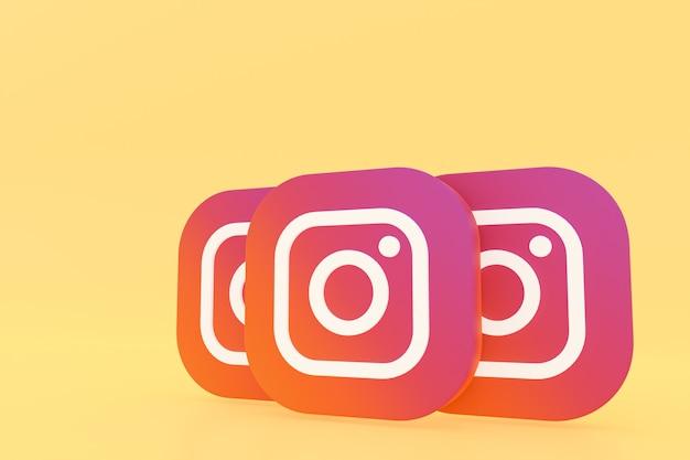 Rendu du logo de l'application instagram sur jaune