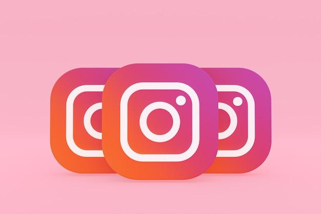 Rendu du logo de l'application instagram sur rose
