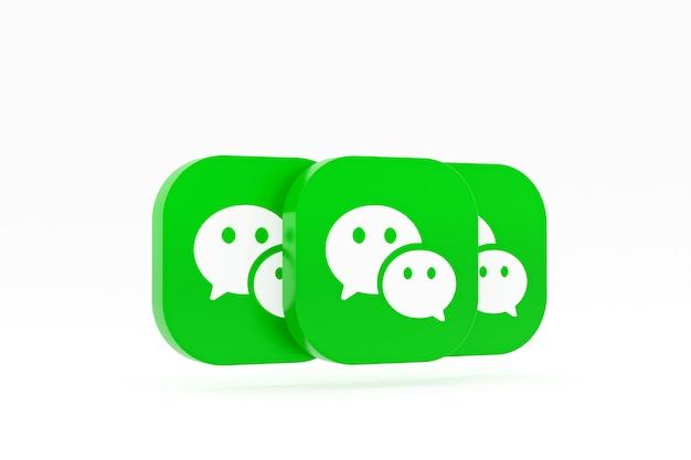 Rendu du logo de l'application wechat sur blanc