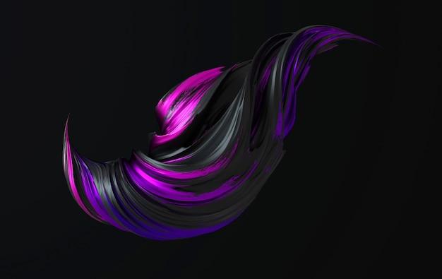 Rendu de forme torsadée abstraite dynamique colorée