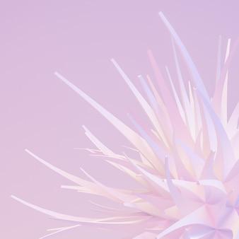 Rendu d'illustration 3d fond abstrait léger et doux