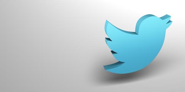 Rendu de logo 3d de médias sociaux