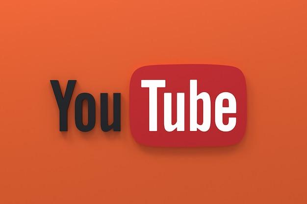 Rendu de logo d'icônes de médias sociaux d'application youtube
