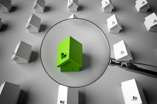 Rendu de la loupe pour zoomer sur un modèle de maison