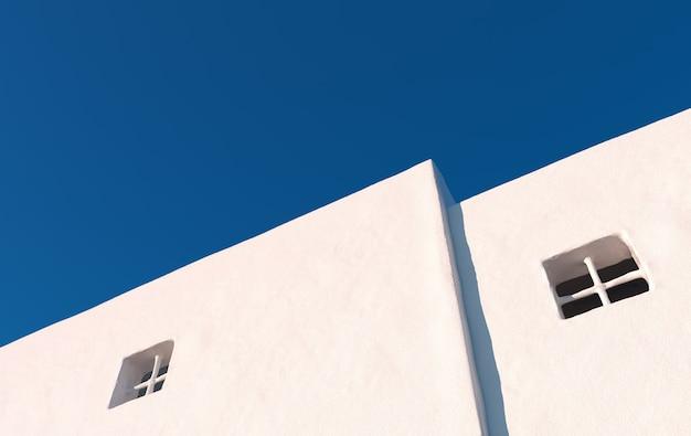 Rendu de mur de grunge blanc béton vide de maison de ville