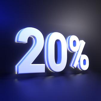 Rendu des nombres à 20%