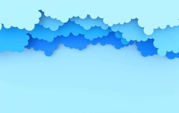 Rendu de nuages duveteux art papier