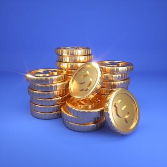 Rendu numérique de gros prix en argent