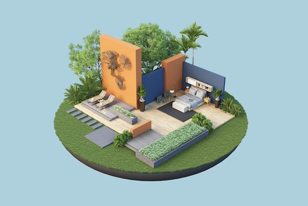 Rendu des plans d'étage architecture et décoration intérieure