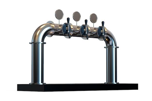 Rendu de pompe de tour à bière avec poignée et distributeur équipement pour bar 3d réaliste
