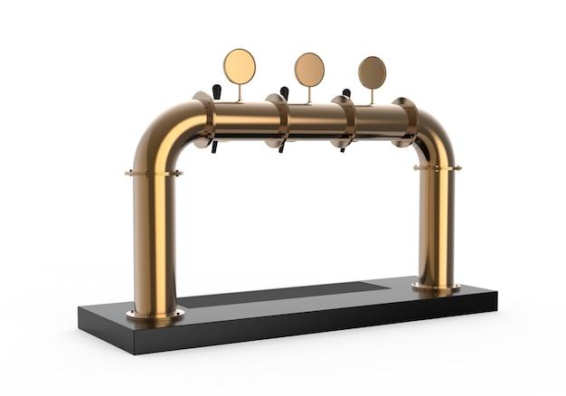 Rendu de la pompe de la tour à bière avec poignée et distributeur équipement pour bar illustration 3d