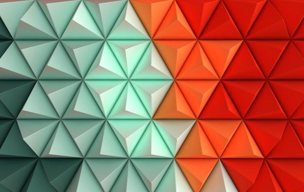 Rendu, pyramide papier, géométrique, résumé, illustration