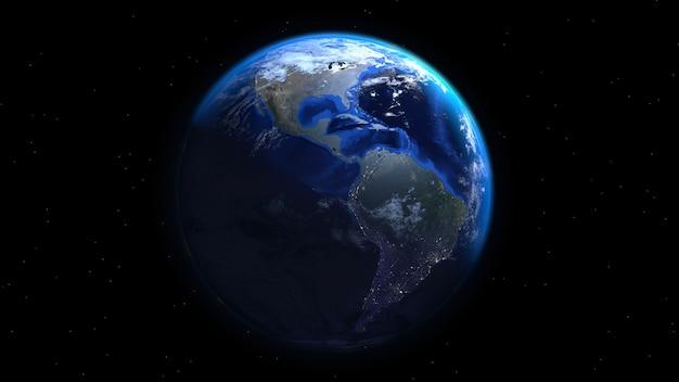 Rendu réel de la terre 3d