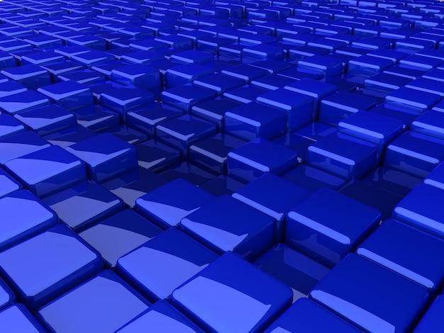 Rendu de texture de fond de boîtes bleues
