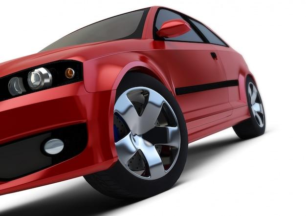 Rendu de voiture rouge