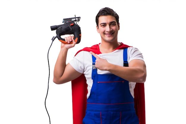 Réparateur de super héros isolé