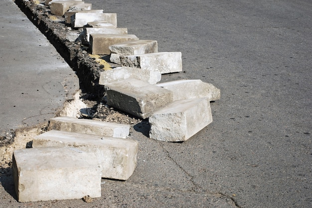 Réparation de routes et trottoirs, travaux de voirie
