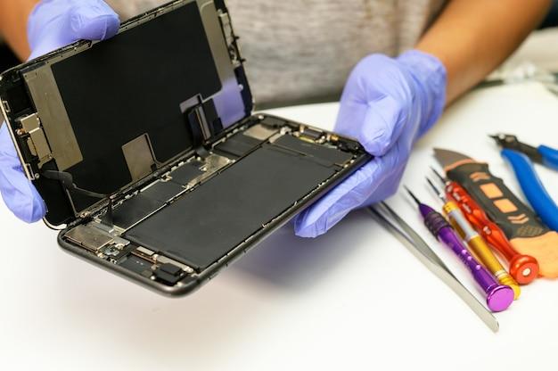 Réparation de téléphone portable